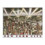 New York City Postcard with Vintage Print
