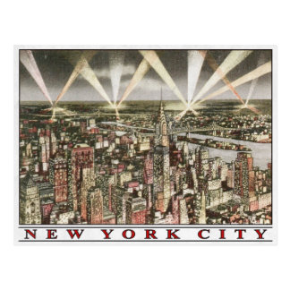 New York City Postcard with Vintage Print