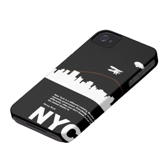 New York City Poster Black iPhone 4 Case-Mate Case