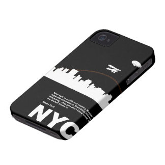 New York City Poster Black iPhone 4 Covers