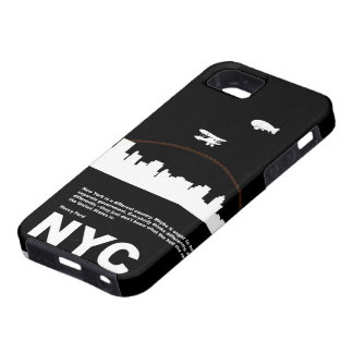 New York City Poster Black iPhone SE/5/5s Case
