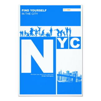 New York City Poster Card