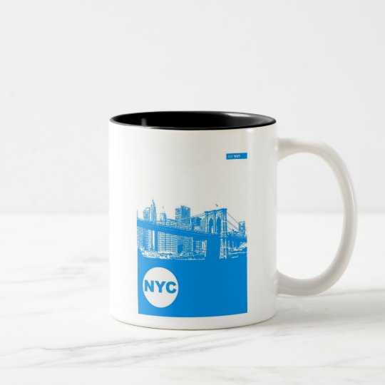 New York City Poster Two-Tone Coffee Mug