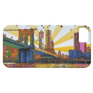 New York City psicodélico: Puente de Brooklyn, WTC iPhone 5 Case-Mate Fundas