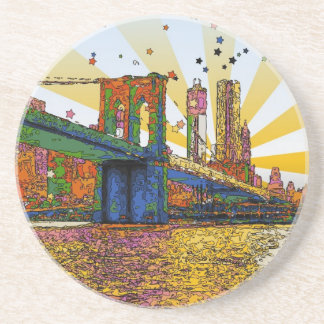 New York City psicodélico: Puente de Brooklyn, WTC Posavasos Para Bebidas