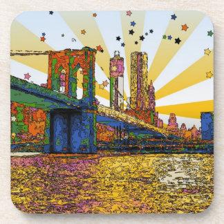 New York City psicodélico: Puente de Brooklyn, WTC Posavasos