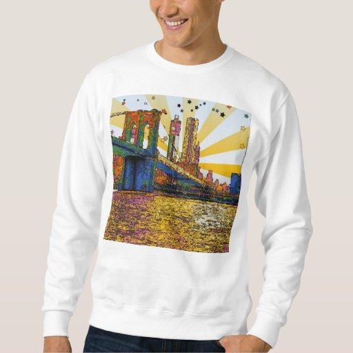 New York City psicodélico: Puente de Brooklyn, WTC Pullover Sudadera