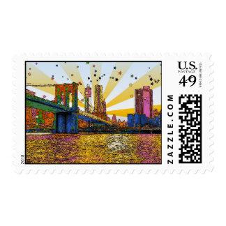 New York City psicodélico: Puente de Brooklyn, WTC Sello