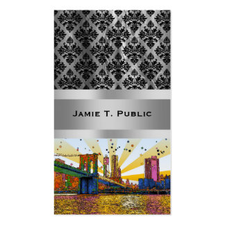 New York City psicodélico: Puente de Brooklyn, WTC Tarjeta Personal