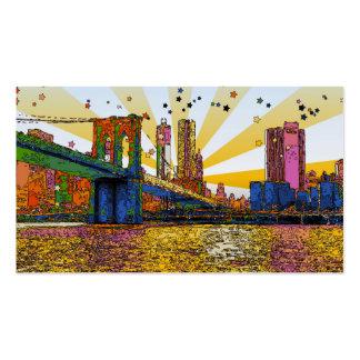 New York City psicodélico: Puente de Brooklyn, WTC Plantilla De Tarjeta Personal
