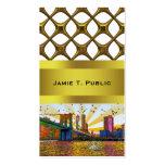 New York City psicodélico: Puente de Brooklyn, WTC Plantilla De Tarjeta De Visita