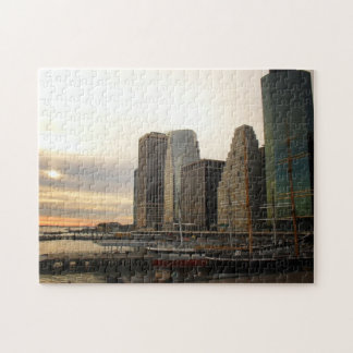 New York City Puzzle -  Sunset at Pier 17