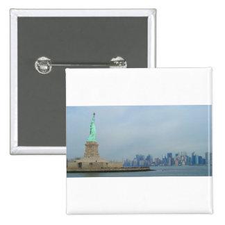New York City que sorprende Pin Cuadrada 5 Cm