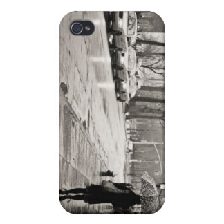 New York City - Rainy Day in Greenwich Village iPhone 4 Covers