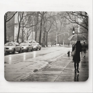 New York City - Rainy Day in Greenwich Village Mouse Pad