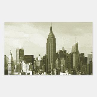 New York City Rectangular Sticker
