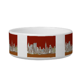 New York city red sepia Bowl