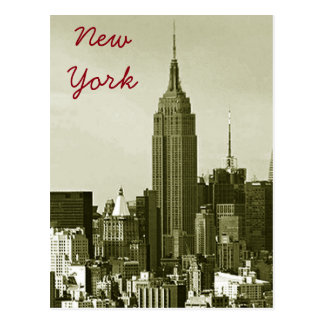 New York City Retro Style Postcard