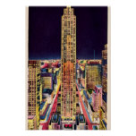 New York City Rockefeller Center at Night 1940 Poster