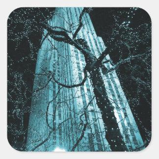 New York City Rockefeller Center Tree Square Sticker