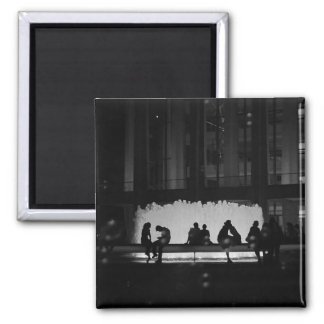 New York City Romance 2 Inch Square Magnet