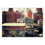 New York City Rooftops Covered in Graffiti Card