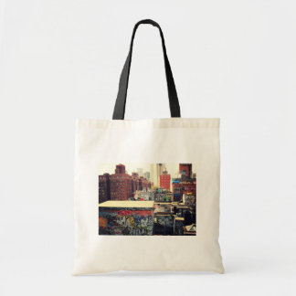 New York City Rooftops Covered in Graffiti Tote Bag