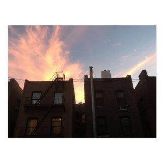 New York City Rooftops NYC Sunset Photo Postcard