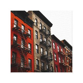 New York City Row Houses Canvas Print