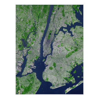 New York City - Sat View Poster