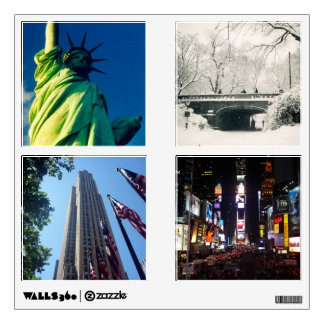 new york city scenes wall decal