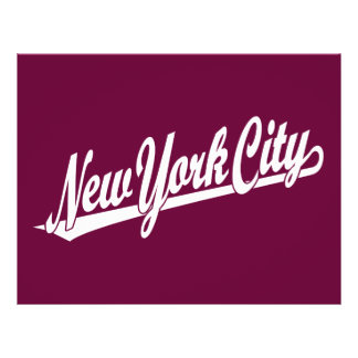 New York City script logo in white Flyer