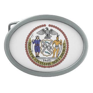 New York City seal Oval Belt Buckle