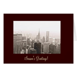 New York City Season's Greetings Card