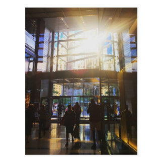 New York City Shopping NYC Sunlight Photo Postcard