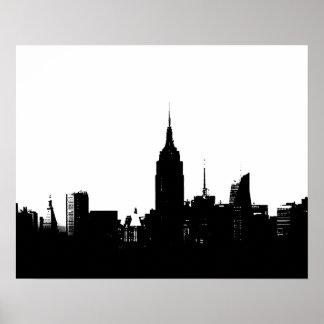New York City Silhouette Pop Art Poster