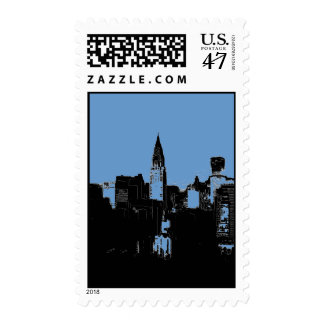 New York City Silhouette Stamps