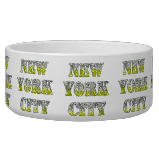 New York City Silver Gold Glitters Bowl