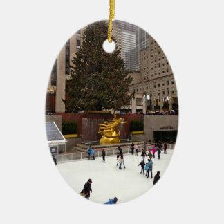 New York City Skating Rink Christmas Ornaments