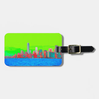New York City Sky Line Luggage Tag