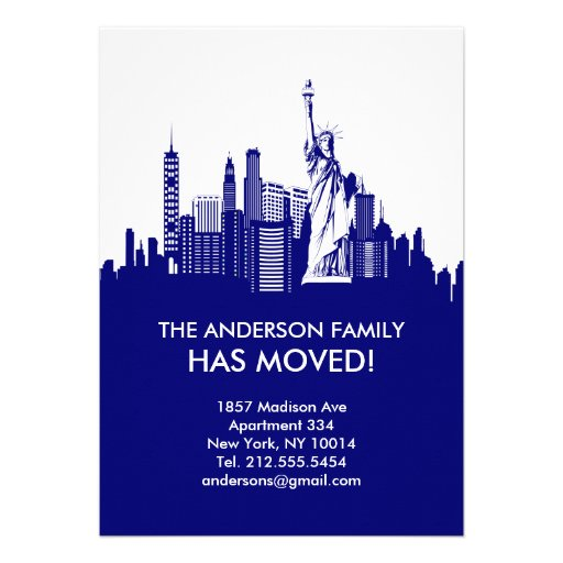 New York City Sky Line Moving Announcement