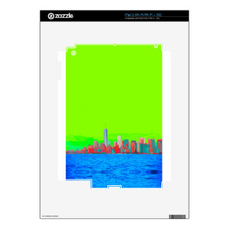 New York City Sky Line Skins For iPad 2