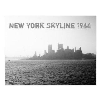 New York City Skyline 1964 Ferry Travel Tour Postcard