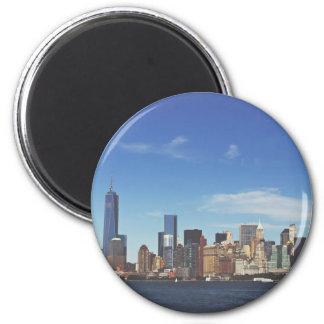New York city skyline 2 Inch Round Magnet