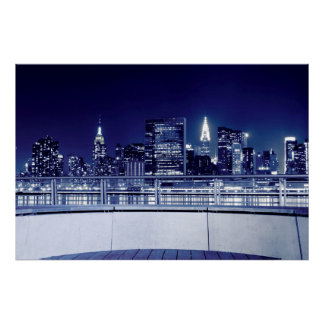 New York City Skyline 2 Poster