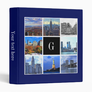 New York City Skyline 8 Image Photo Collage Binder