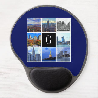 New York City Skyline 8 Image Photo Collage Gel Mouse Pad