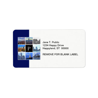 New York City Skyline 8 Image Photo Collage Label