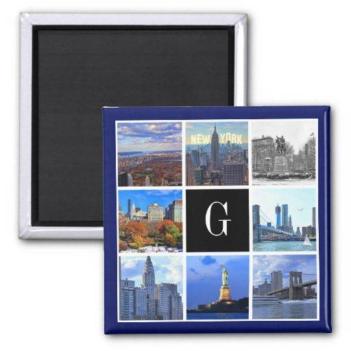 New York City Skyline 8 Image Photo Collage Fridge Magnets