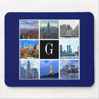 New York City Skyline 8 Image Photo Collage Mouse Pad